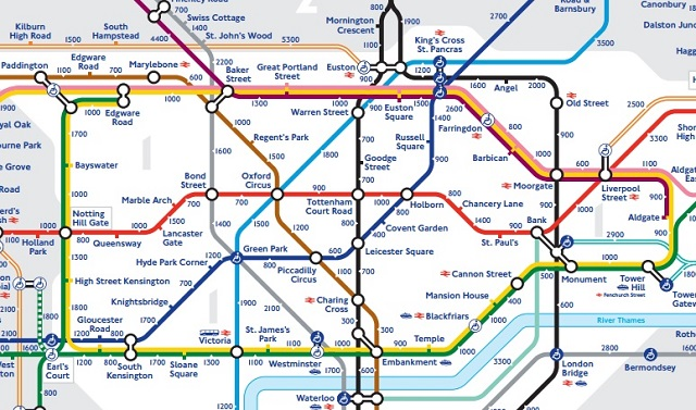 London Dangerous Areas Map.New Tube Map Encourages Londoners To Walk London Road