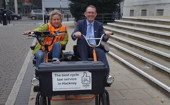 Hackney cycle taxi MP