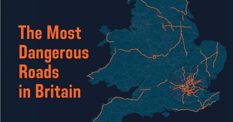 Britain dangerous roads