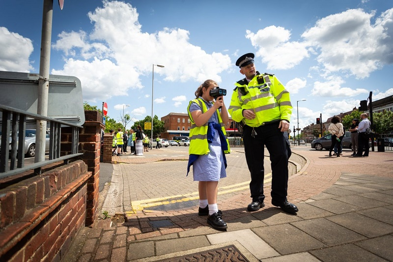 Pupils take action against speeding drivers | London Road Safety Council