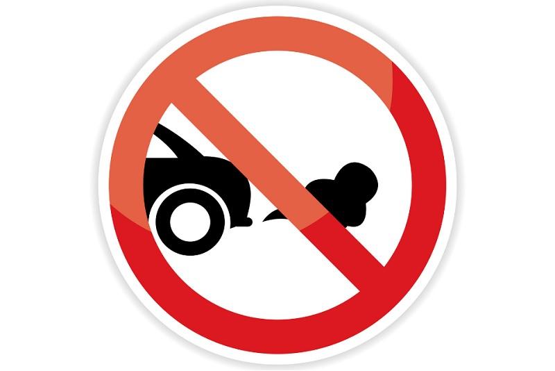 Vehicle idling sign